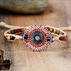 """""""The Fleur"""" Seed Beads Adjustable Bracelet"""